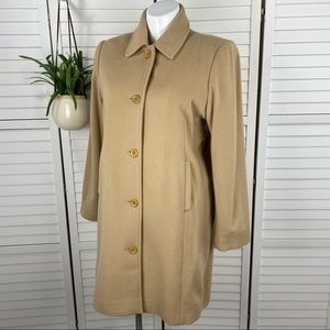 LL Bean Plus 18 Wool Blend Classic Long Pea Coat